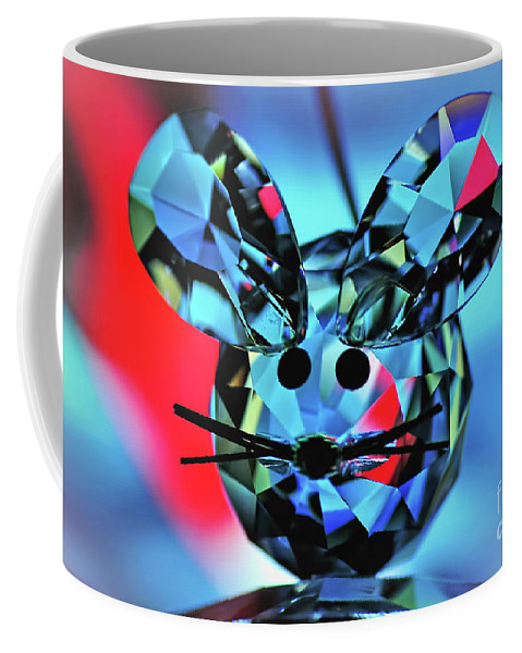 Photography Coffee Mug featuring the photograph Little Mouse - Lead Crystal by Kaye Menner