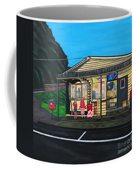 Buildings Coffee Mug featuring the painting Little Oneroa Store by Sandra Marie Adams