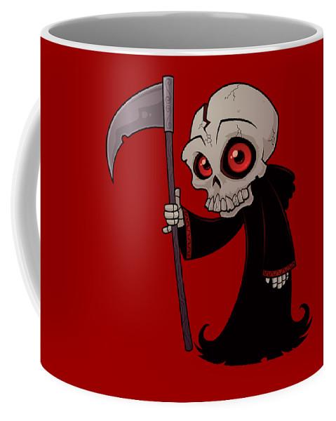 Grim Reaper Coffee Mug featuring the digital art Little Reaper by John Schwegel