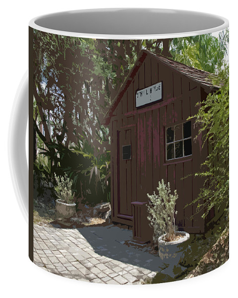 Little Coffee Mug featuring the painting Little Red Schoolhouse Two by Allan Hughes