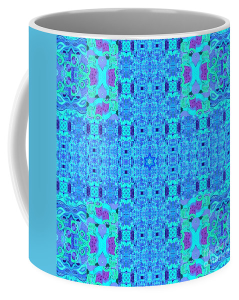 Blue Coffee Mug featuring the digital art Little Star Twinkle Blue by Helena Tiainen