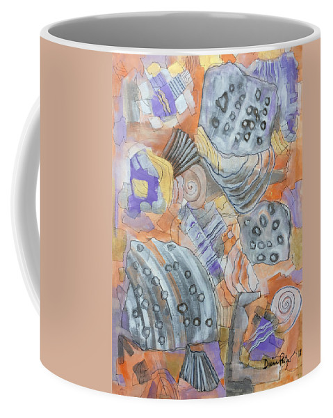 Sand Coffee Mug featuring the painting Little Treasures by Diana Perfect