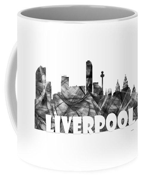 Liverpool Coffee Mug featuring the digital art Liverpool England Skyline by Marlene Watson