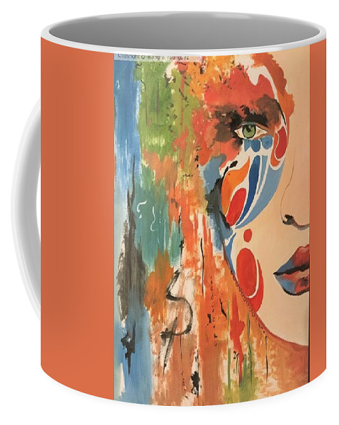 Coffee Mug featuring the painting Living In Color by Lisandro Rodriguez