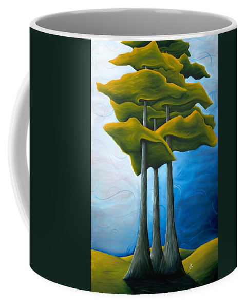 Landscape Coffee Mug featuring the painting Living In The Shadow by Richard Hoedl