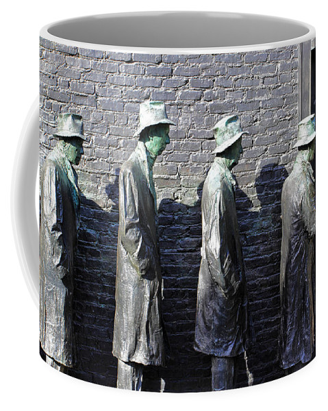 Bronze Sculptures Coffee Mug featuring the photograph Living In The Shadows by Jennifer Robin