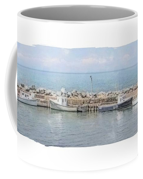 Watercolor Coffee Mug featuring the painting Livingstone Cove by Nadine Berg