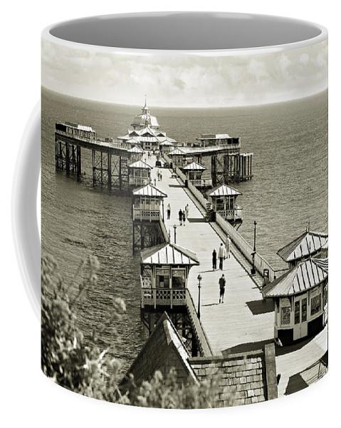 Pier Coffee Mug featuring the photograph Llandudno Pier North Wales Uk by Mal Bray