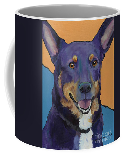 Dog Memorial Coffee Mug featuring the painting Llano by Pat Saunders-White