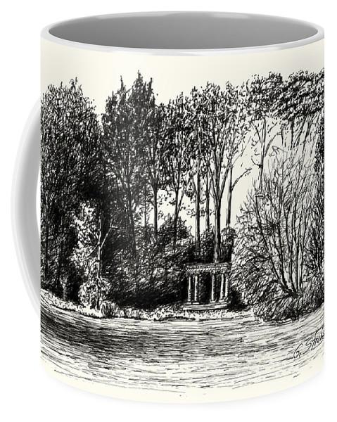 Fountain Coffee Mug featuring the drawing Lloyd's Portal by Gary Strahan