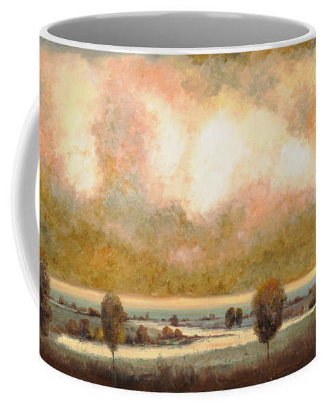 Pond Coffee Mug featuring the painting Lo Stagno Sotto Al Cielo by Guido Borelli
