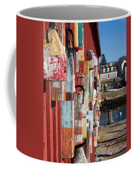 Motif 1 Rockport Coffee Mug featuring the photograph Lobster Buoy On Motif 1, Rockport, Ma by Nicole Freedman