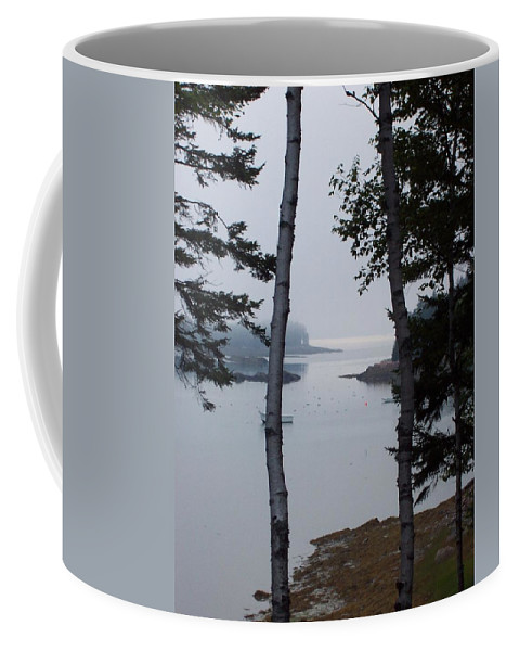 Landscape Coffee Mug featuring the photograph Lobster Cove by Lisa Kane