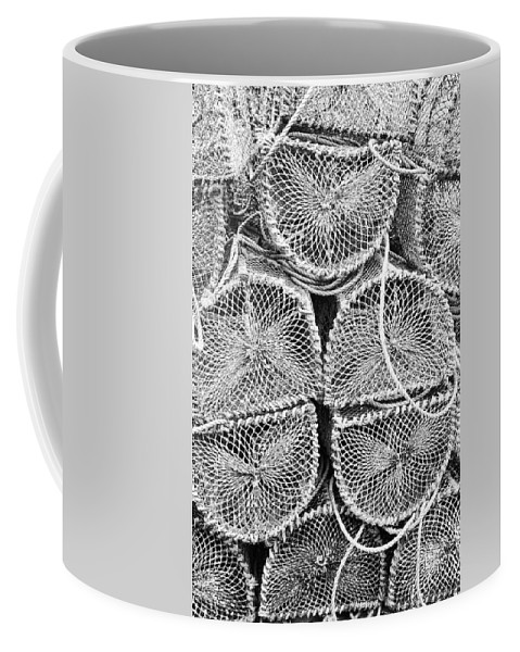 Lobster Coffee Mug featuring the photograph Lobster Creels by Tina Hunt