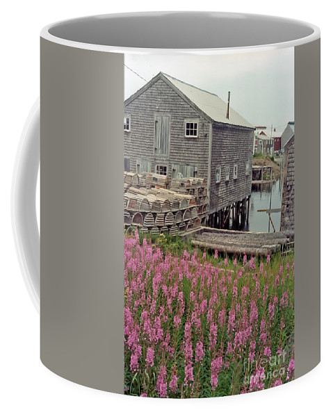 Lobster Coffee Mug featuring the photograph Lobster House Grand Manan by Thomas Marchessault