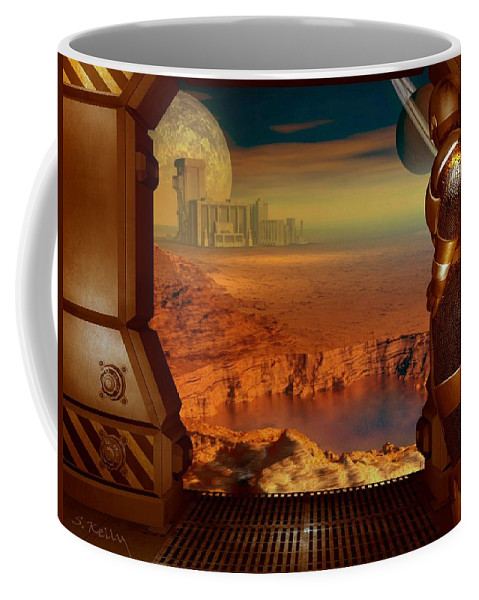 Space Coffee Mug featuring the digital art Location Location by Steve Kelly
