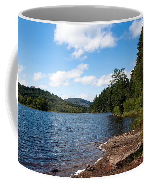 Landscape Coffee Mug featuring the photograph Loch Ard by Playfulfoodie