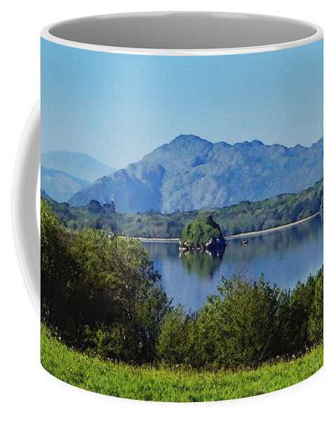 Irish Coffee Mug featuring the painting Loch Leanne Painting Killarney Ireland by Teresa Mucha