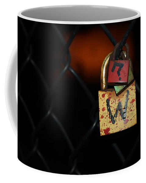 Lock Coffee Mug featuring the photograph Locked Questions by Lauri Novak
