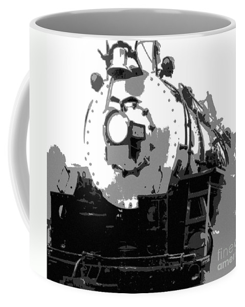 Locomotive Coffee Mug featuring the mixed media Locomotion by Richard Rizzo