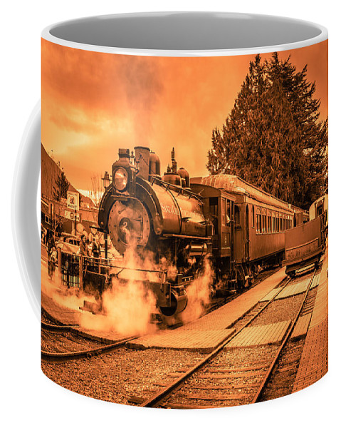 Copyrighted Coffee Mug featuring the photograph Locomotive 11 by Mike Penney