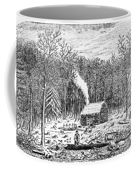 1790s Coffee Mug featuring the photograph Log Cabin, C1800 by Granger
