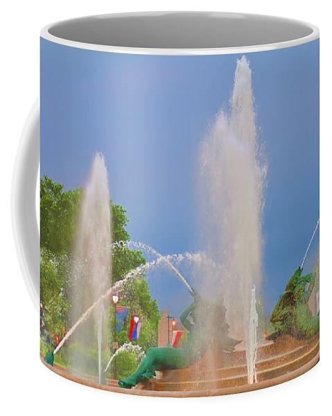 Fountain Coffee Mug featuring the photograph Logan Circle Fountain 2 by Bill Cannon