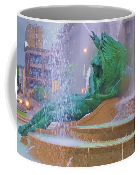 Fountain Coffee Mug featuring the photograph Logan Circle Fountain 5 by Bill Cannon