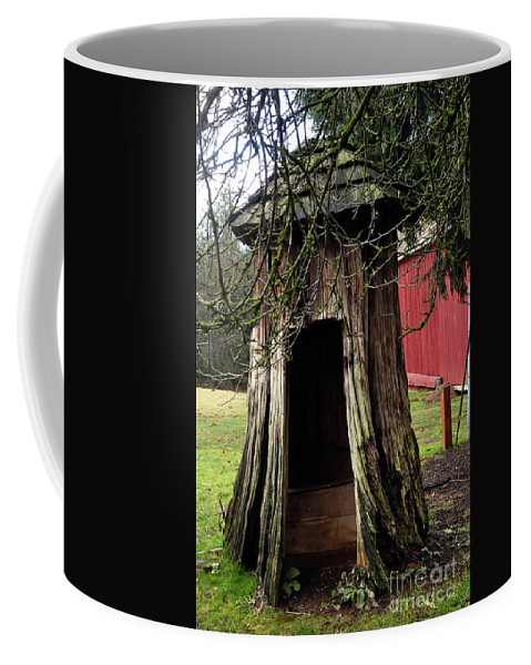 Clay Coffee Mug featuring the photograph Loggers Outhouse by Clayton Bruster
