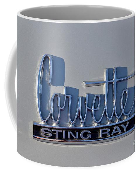 Classic Coffee Mug featuring the photograph Logo Of 1966 Chevrolet Corvette Sting Ray 427 Turbo-jet by George Atsametakis