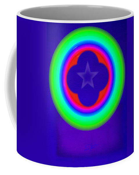 Abstract Coffee Mug featuring the painting Logos by Charles Stuart