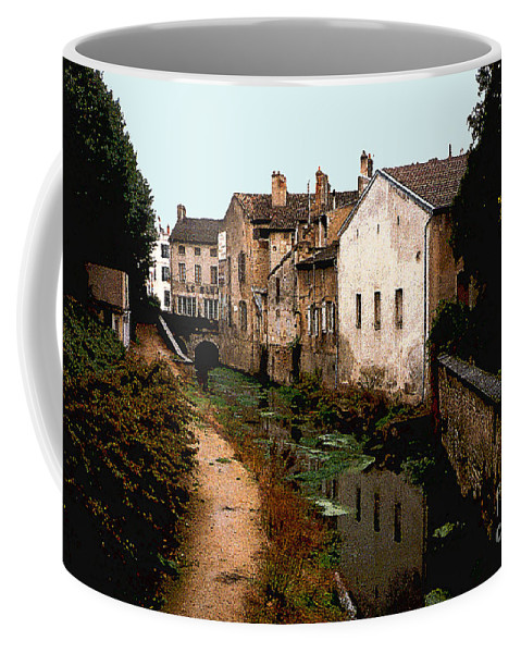 France Coffee Mug featuring the photograph Loire Valley Village Scene by Nancy Mueller