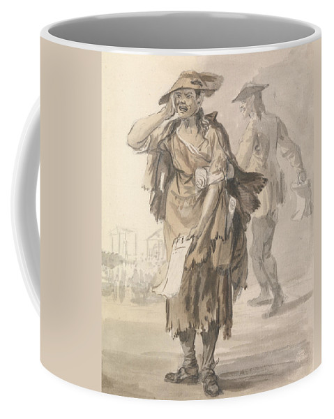 Paul Sandby Coffee Mug featuring the painting London Cries - Last Dying Speech And Confession by Paul Sandby