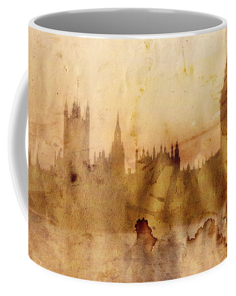 London Coffee Mug featuring the painting London by Michal Boubin
