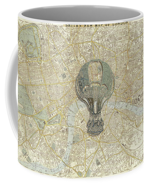 London Coffee Mug featuring the mixed media London Travels by Brett Nelson