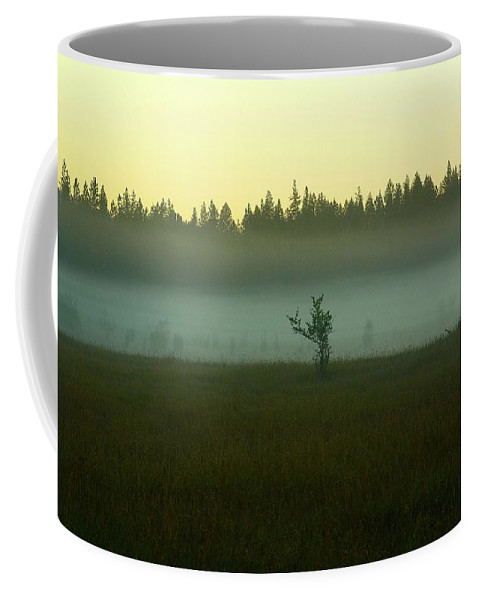 Oregon Coffee Mug featuring the photograph Lone by Cher Rydberg