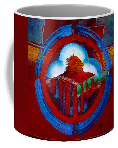 Star Coffee Mug featuring the painting Lone Star State by Charles Stuart