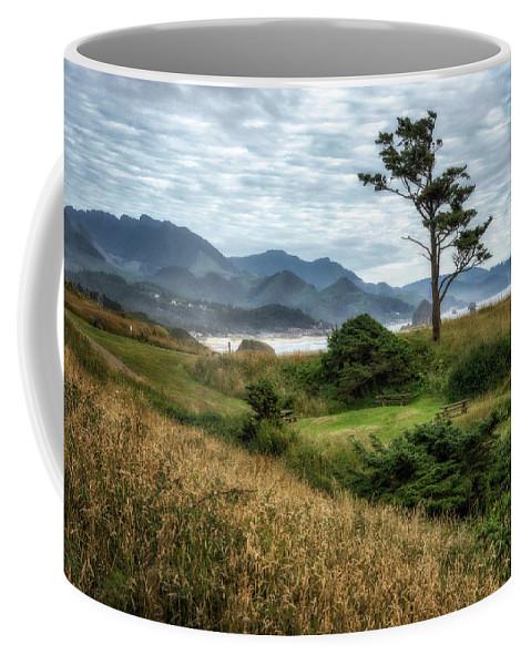 Coast Coffee Mug featuring the photograph Lone Tree by Claudia Kuhn