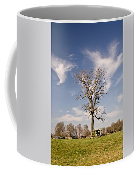 Civil Coffee Mug featuring the photograph Loneliness Of The Battle Field by Douglas Barnett