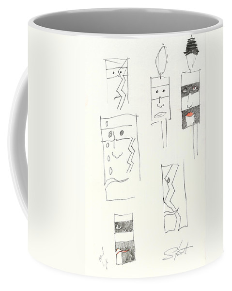 Native American Coffee Mug featuring the painting Lonely Are The Braves by Charles Stuart