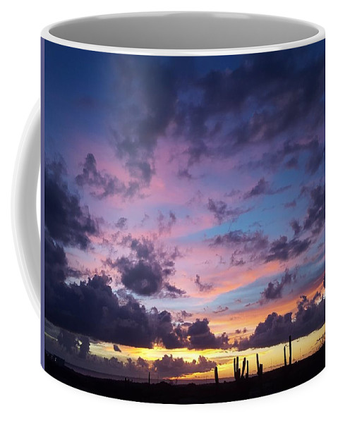 Sunset Coffee Mug featuring the photograph Cacti Sunset by Stefan Prelog