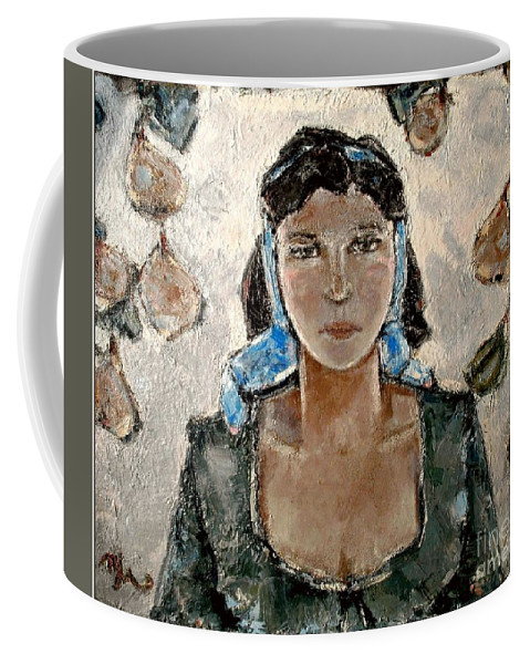 People Coffee Mug featuring the painting Lonely Girl Lg1 by Pemaro
