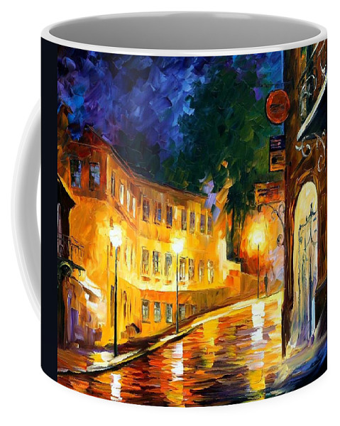 Afremov Coffee Mug featuring the painting Lonely Night by Leonid Afremov