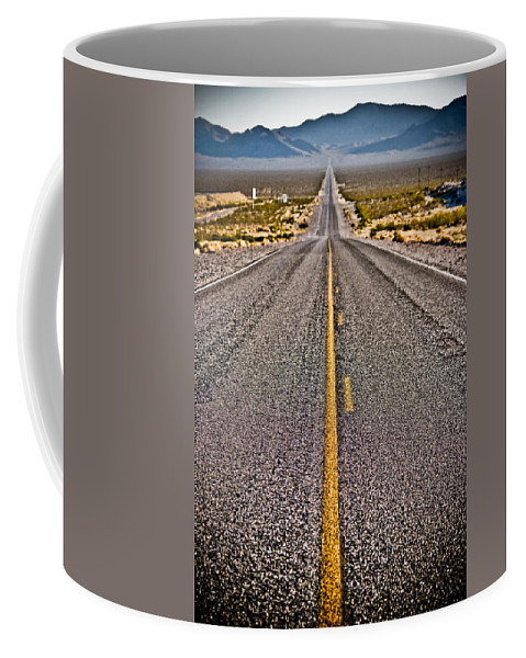 Nature Coffee Mug featuring the photograph Lonely Road #2 by Robert J Caputo