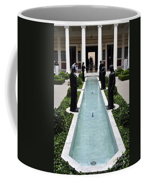 Clay Coffee Mug featuring the photograph Long Fountain by Clayton Bruster