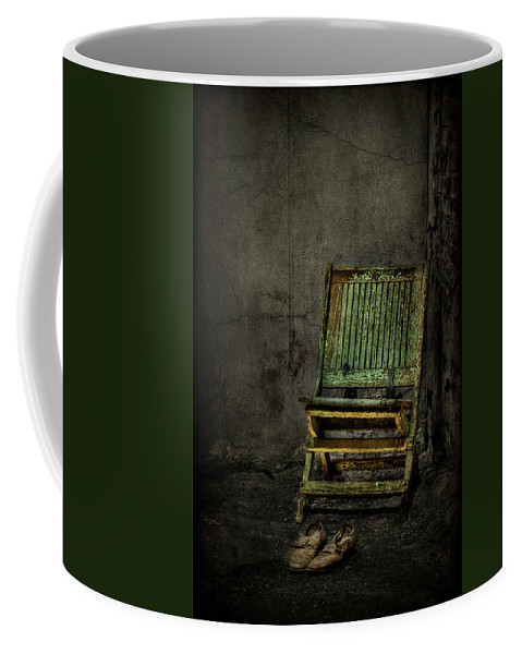 Chair Coffee Mug featuring the photograph Long Is The Time. Hard Is The Road. by Evelina Kremsdorf
