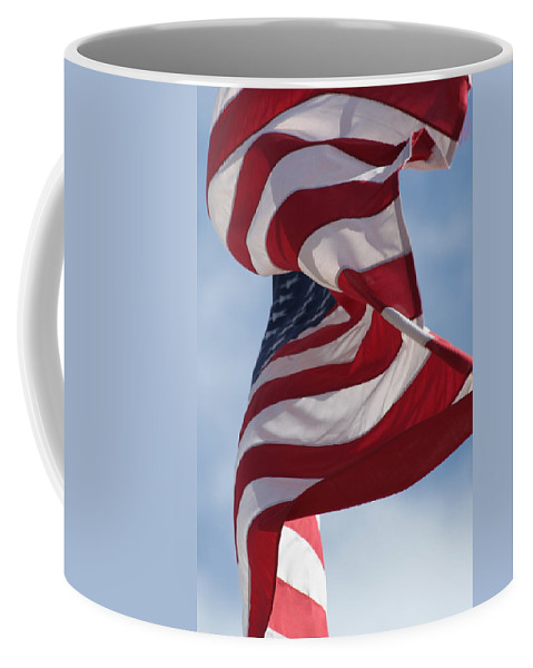 Flag Coffee Mug featuring the photograph Long May She Wave by Lauri Novak