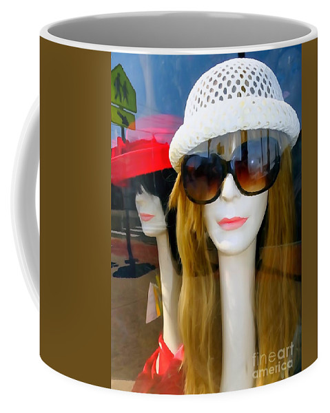 Mannequins Coffee Mug featuring the photograph Long Necked Lovelies by Ed Weidman