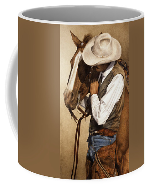 Western Coffee Mug featuring the painting Long Time Partners by Pat Erickson