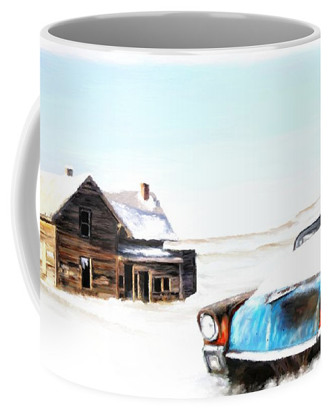 Winter Coffee Mug featuring the painting Long Winter by Susan Kinney
